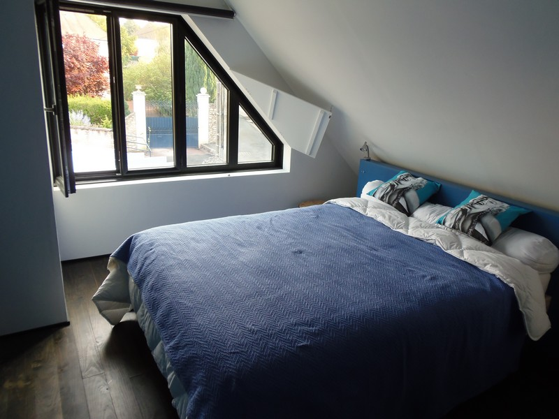 blue bedroom holidays rental house at loches